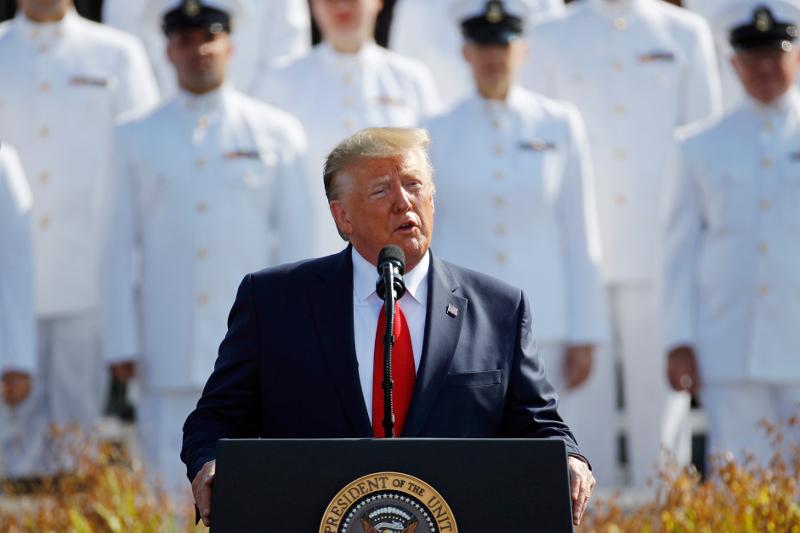 Ομιλία του προέδρου των ΗΠΑ, Ντόναλντ Τραμπ / Φωτογραφία: AP