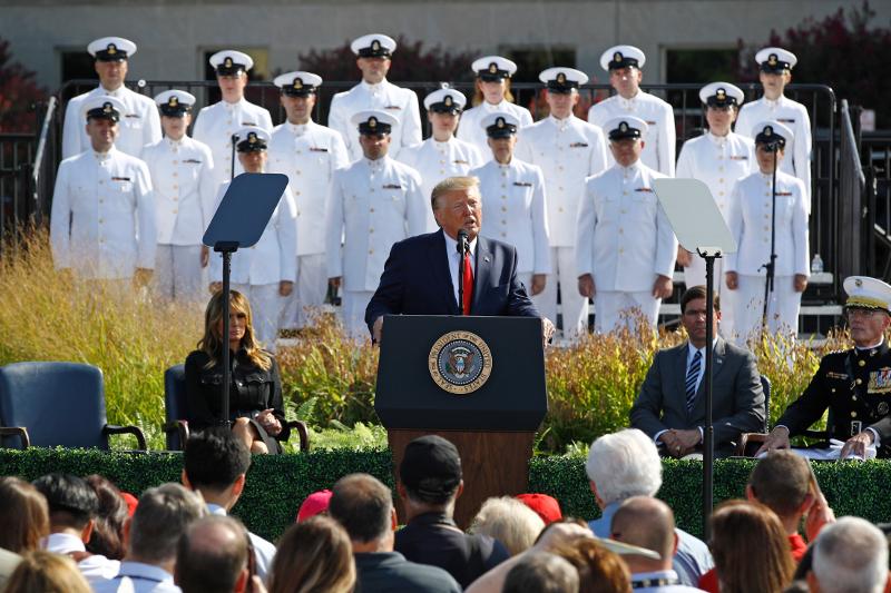 Ο Ντοναλντ Τραμπ μιλά για την τρομοκρατική επίθεση της 11ης Σεπτεμβρίου / Φωτογραφία: AP