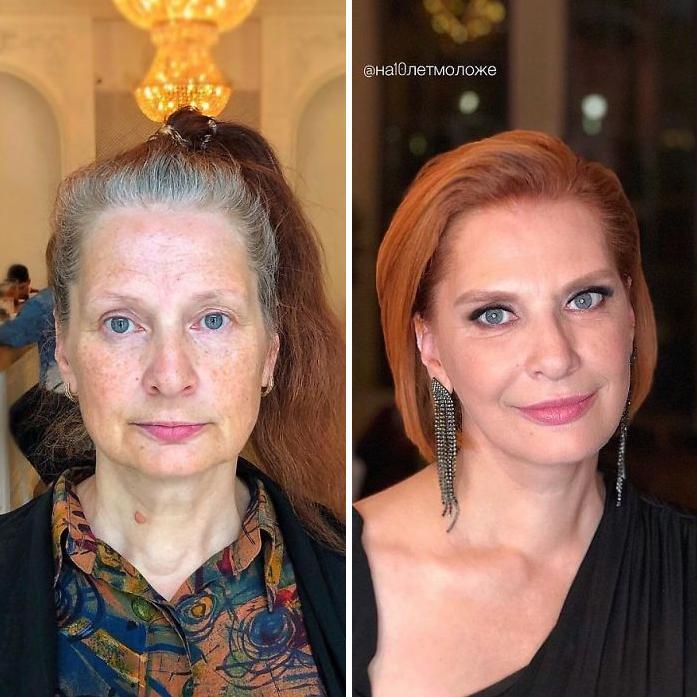 Αν την έβλεπες στον δρόμο θα έλεγες ότι είναι μια ταλαιπωρημένη γυναίκα, μετά την αλλαγή στο χρώμα των μαλλιών και το κούρεμα, έγινε μια υπέρκομψη κυρία