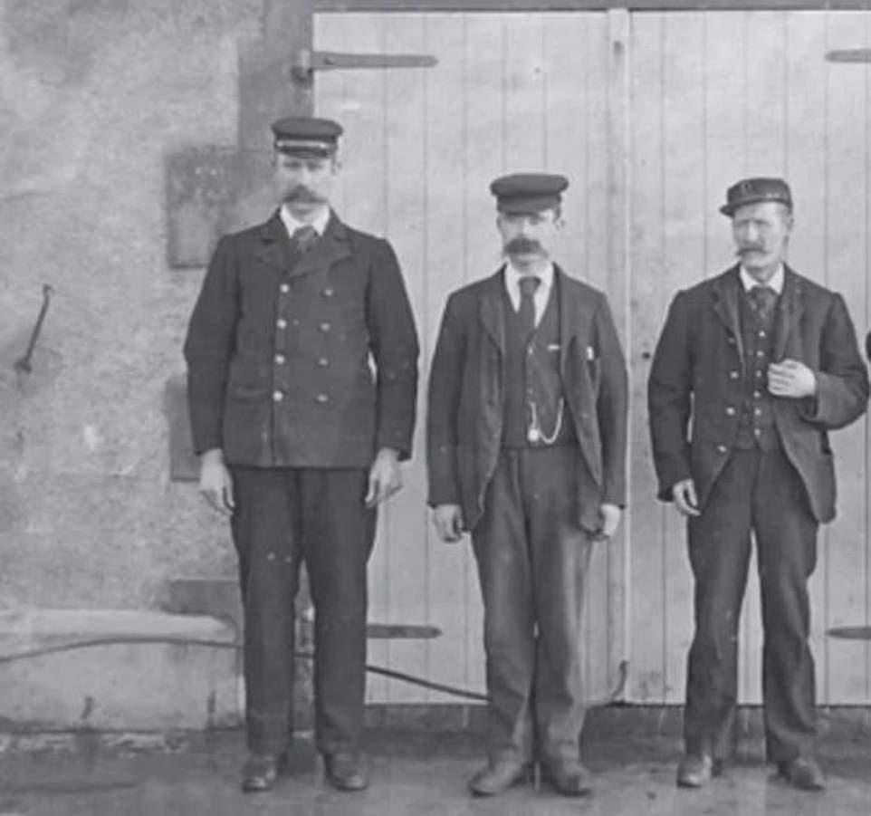 Οι 3 φαροφύλακες Τόμας Μάρσαλ, Ντόναλντ ΜακΑρθουρ και Τζέιμς Ντούκατ