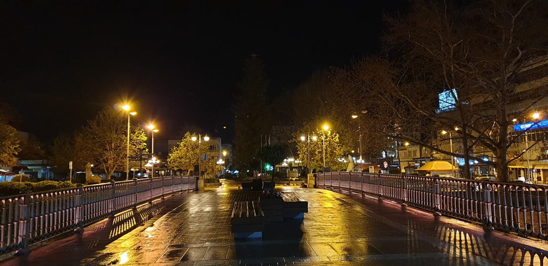 Η γέφυρα στο κέντρο των Τρικάλων