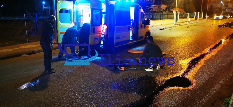 Τροχαίο σοκ στην Αμαλιάδα: Νεκρή μία 23χρονη, σοβαρά τραυματίας ο οδηγός της μηχανής