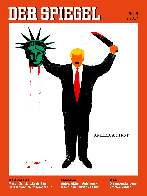 Σκίτσο του der spiegel με τον Τραμπ