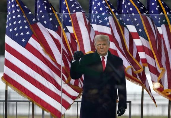 Ο Ντόναλντ Τραμπ στη συγκέντρωση της Ουάσινγκτον