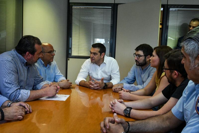 Επίσκεψη του Αλέξη Τσίπρα στη δημοτική Αστυνομία