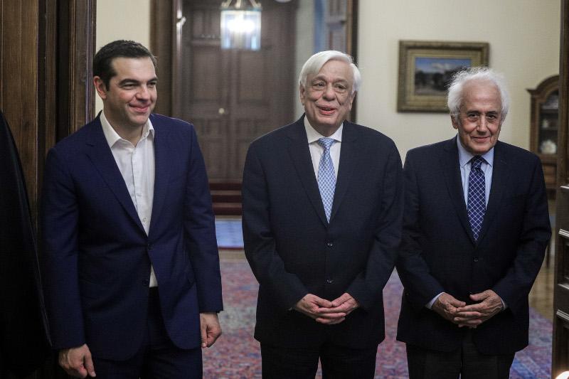 Αλέξης Τσίπρας, Προκόπης Παυλόπουλος και Αντώνης Ρουπακιώτης