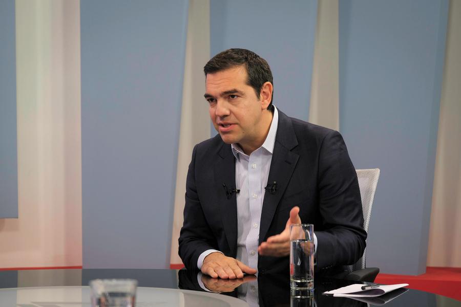 Ο Αλέξης Τσίπρας στην τηλεόραση ΔΕΛΤΑ της Αλεξ/πολης