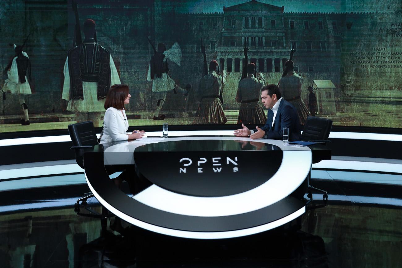 Ο Αλέξης Τσίπρας δίνει συνέντευξη στο Open