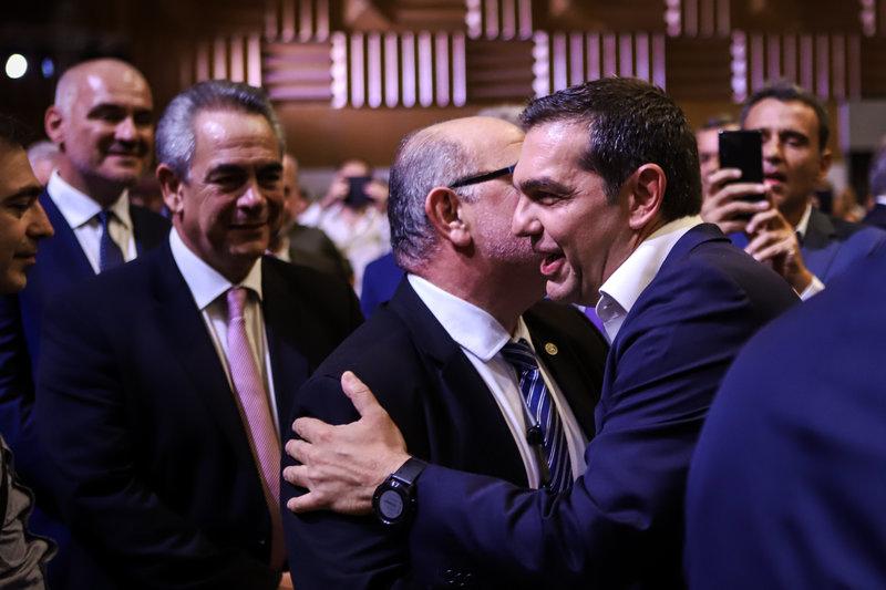 Αλέξης Τσίπρας, Κωνσταντίνος Μϊχαλος στο βάθος στη ΔΕΘ 2019