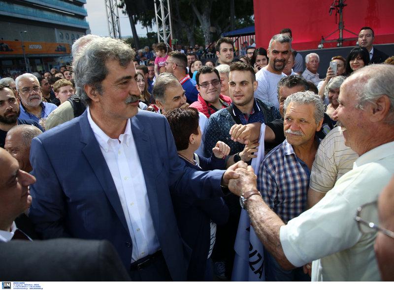 Ο Παύλος Πολάκης στην ομιλία Τσίπρα