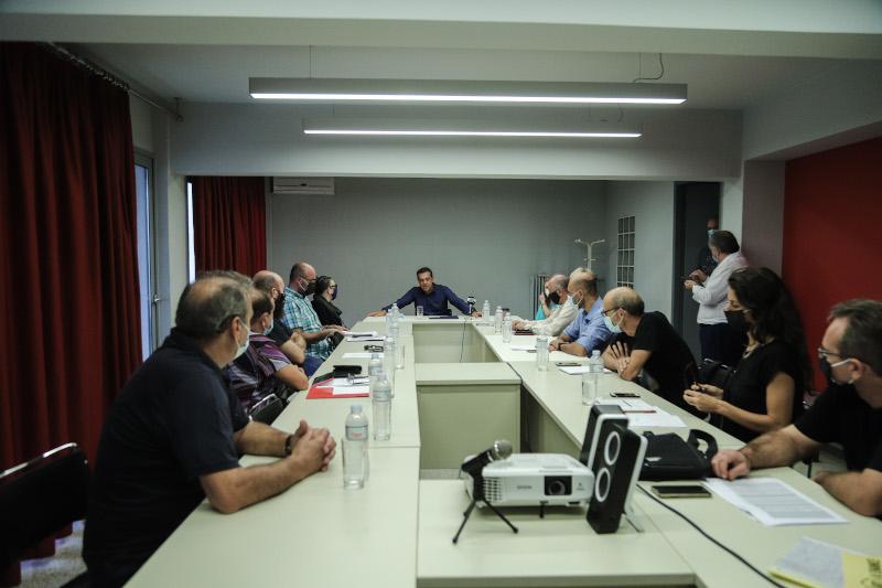 Συνάντηση του Αλέξη Τσίπρα με την Πανελλήνια Ομοσπονδία Θεάματος Ακροάματος