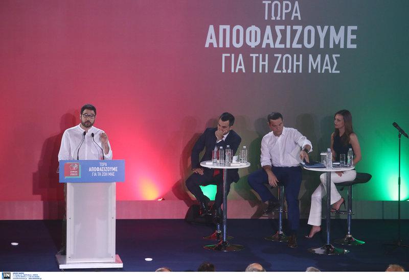 Νάσος Ηλιόπουλος, Αλέξης Χαρίτσης, Αλέξης Τσίπρας, Εφη Αχτσιόγλου