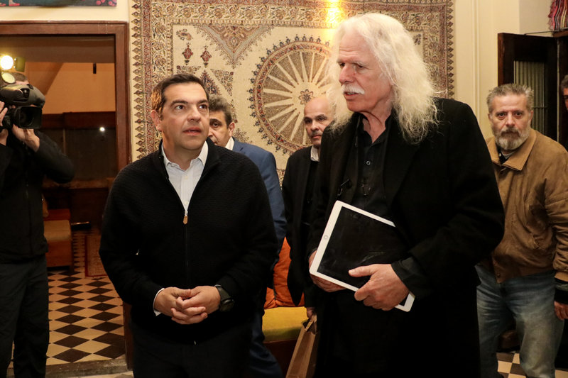 Ο Αλέξης Τσίπρας στον «Λαβύρινθο» του Ρος Ντέιλι στο Χουδέτσι-
