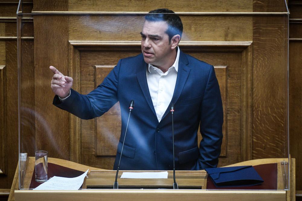 Ο Αλέξης Τσίπρας μιλά στη Βουλή