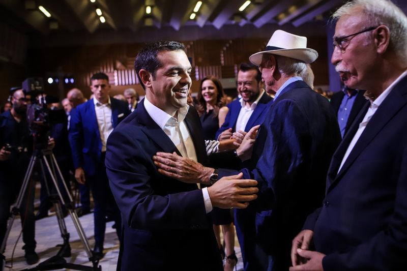 Αλέξης Τσίπρας,Βασίλης Βασιλικός, Δημήτρης Βίτσας στη ΔΕΘ 2019