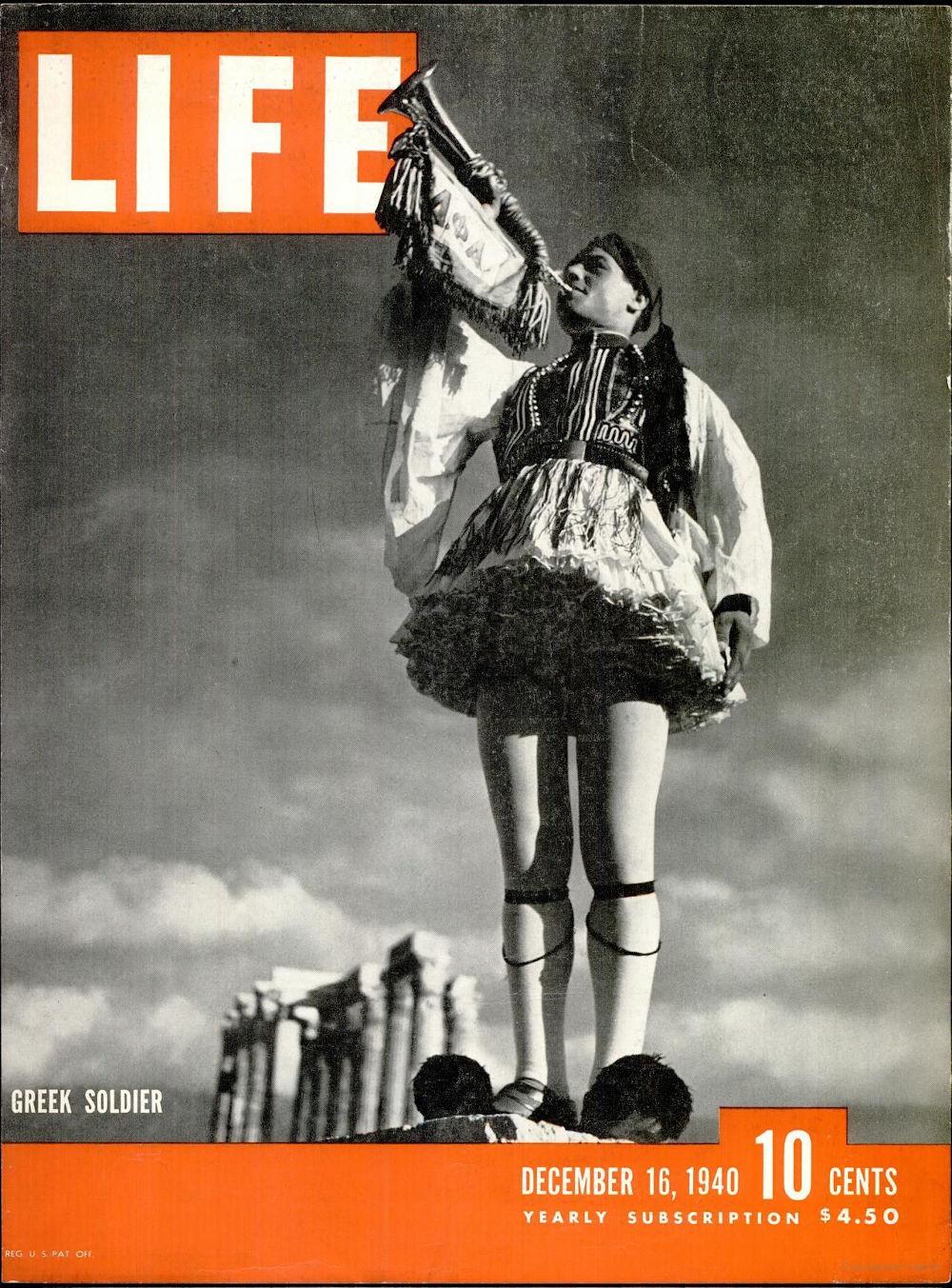 Το εξώφυλλο του περιοδικού LIFE με τον Έλληνα φουστανελά
