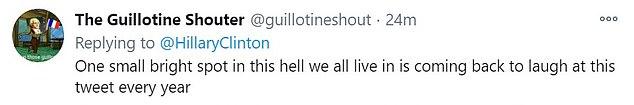 αρνητικό tweet για τη Χίλαρι Κλίντον