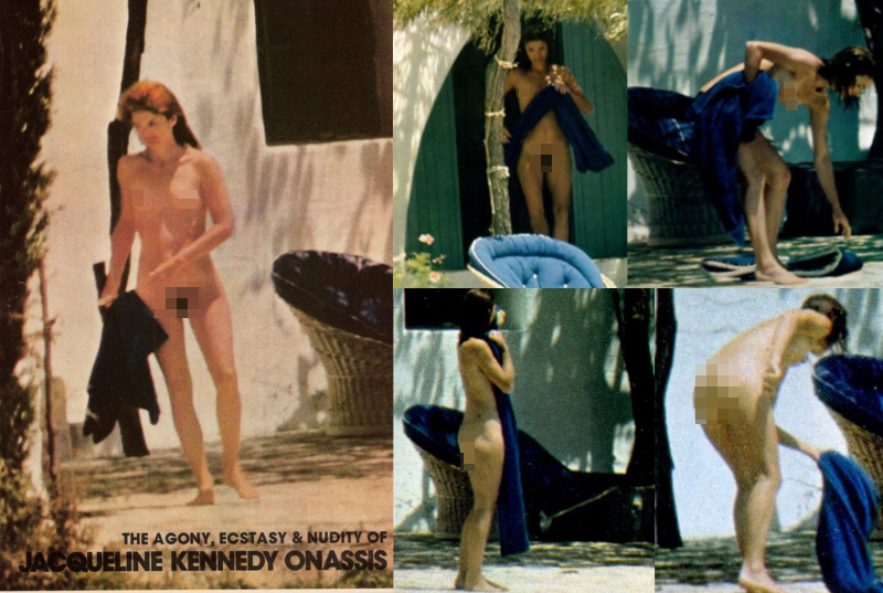 Η Τζάκι Κένεντι Ωνάση γυμνή στον Σκορπιό
