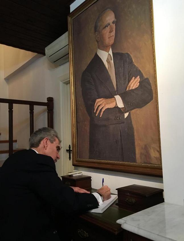 Ο Πάιατ στο σπίτι του Κωνσταντίνου Καραμανλή