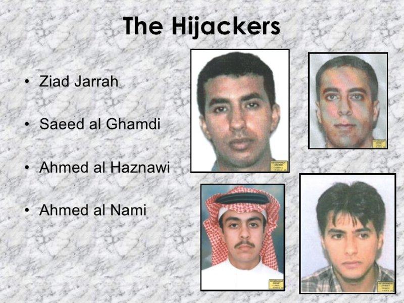Οι φωτογραφίες των τεσσάρων τρομοκρατών που κατέλαβαν την πτήση 93 της United