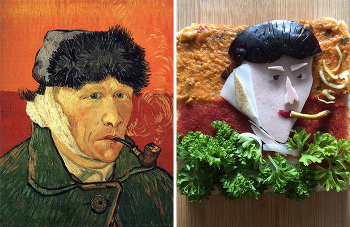 Ένας τους πίνακες του Βαν Γκογκ που έγινε σάντουιτς και η «αυτοπροσωπογραφία με δεμένο αυτί και πίπα»