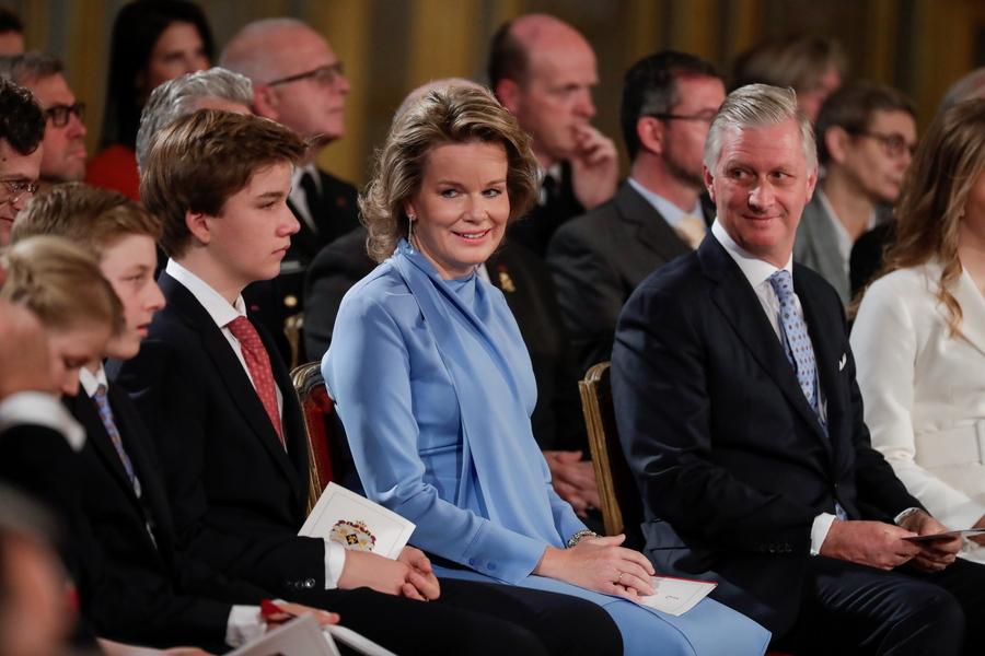 Οι γονείς της πριγκίπισσας Ελισάβετ του Βελγίου, βασιλιάς Φίλιππος και βασίλισσα Ματίλντα