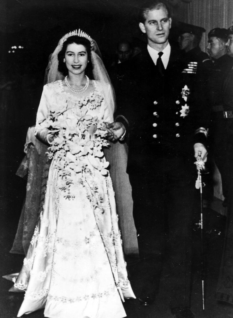 Στιγμιότυπο από το γάμο της Βασίλισσας Ελισάβετ και του πρίγκιπα Φίλιππου