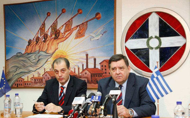 Κυριάκος Βελόπουλος και Γ. Καρατζαφέρης σε συνέντευξη Τύπου