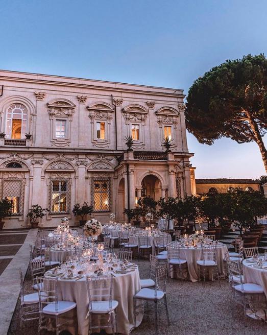 villa Aurelia κήπος γαμήλια δεξίωση