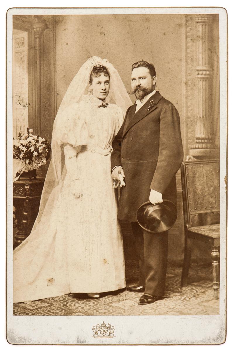 vintage φωτογραφία από γάμο ζευγαριού