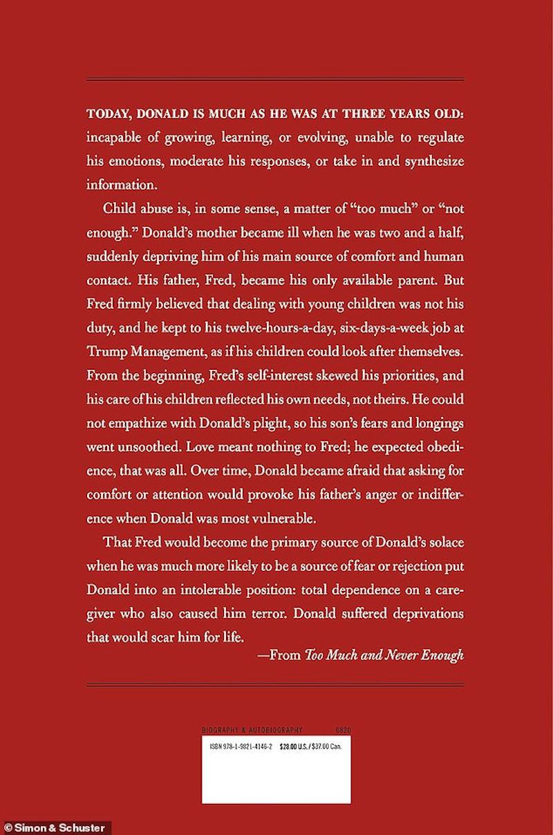 Το βιβλίο Too Much and Never Enough: How My Family Created the World's Most Dangerous Man