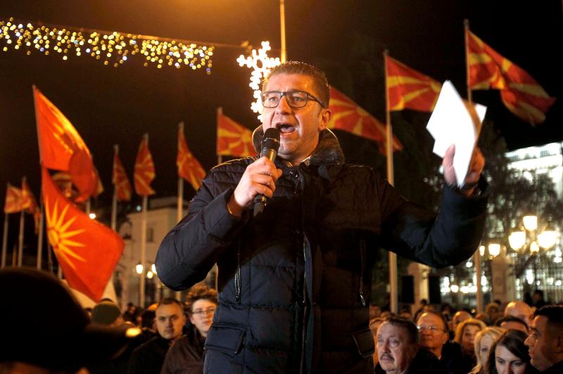 Ο ηγέτης του εθνικιστικού VMRO Χριστιάν Μικόσκι