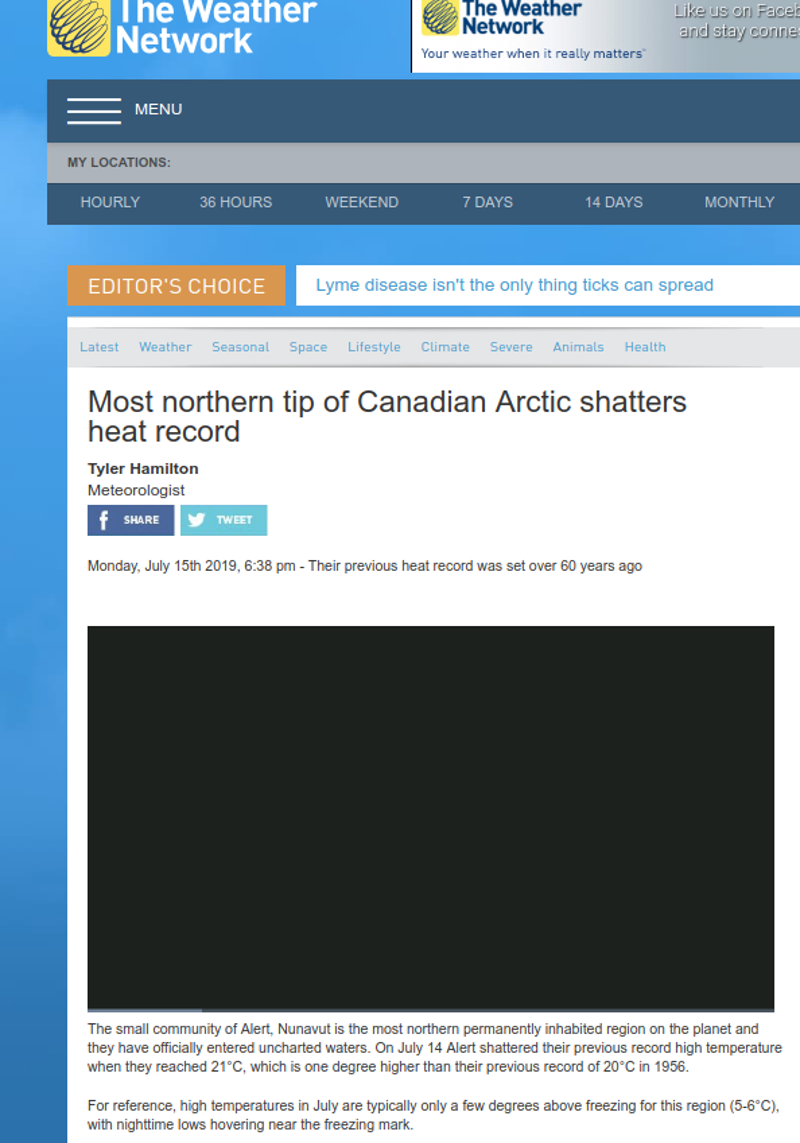 Στους 21 βαθμούς Κελσίου έφτασε η θερμοκρασία στο Βόρειο Πόλο