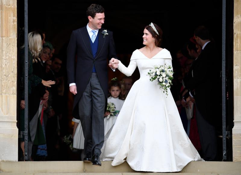 Στιγμιότυπο από τον βασιλικό γάμο της πριγκίπισσας Ευγενίας