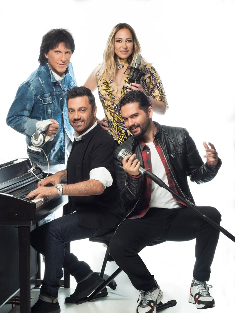 Οι κριτές του X-Factor, Μελίνα Ασλανίδου, Γιώργος Θεοφάνους, Μιχάλης Τσαουσόπουλος και Χρήστος Μάστορας