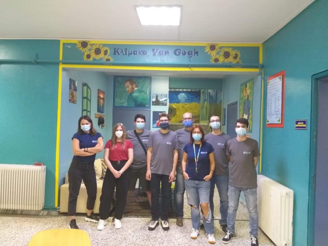 Η ομάδα των μαθητών και των καθηγητών από την Ξάνθη