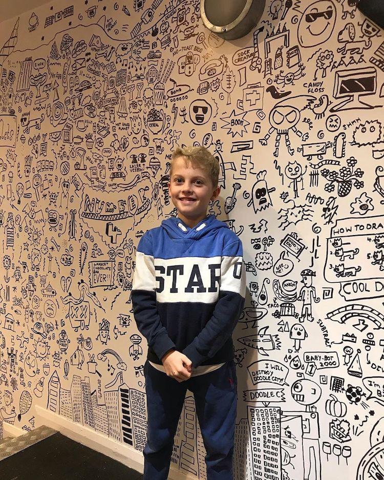 αγορι τοιχος ζωγραφικη