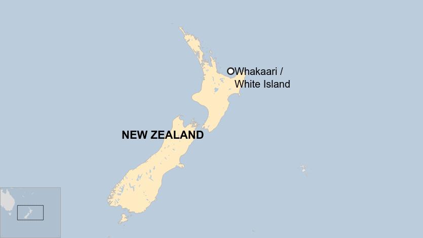 Ο χάρτης με το μικρό νησάκι στη Νέα Ζηλανδία όπου σημειώθηκε η έκρηξη