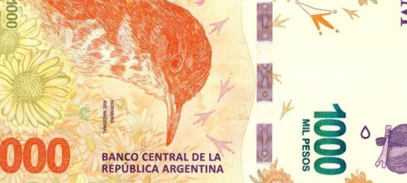 Χαρτονόμισμα των 1.000 πέσος στην Αργεντινή