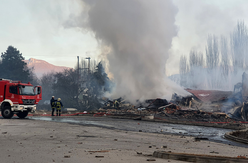 Η ξενοδοχειακή μονάδα κατέρρευσε μετά την ισχυρή έκρηξ