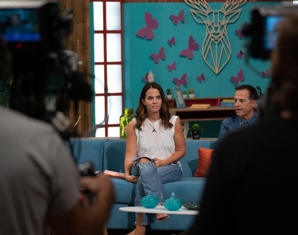Η Ελιάνα Χρυσικοπούλου και ο Άρης Καβατζίκης στις πρόβες για τη νέα εκπομπή του MEGA