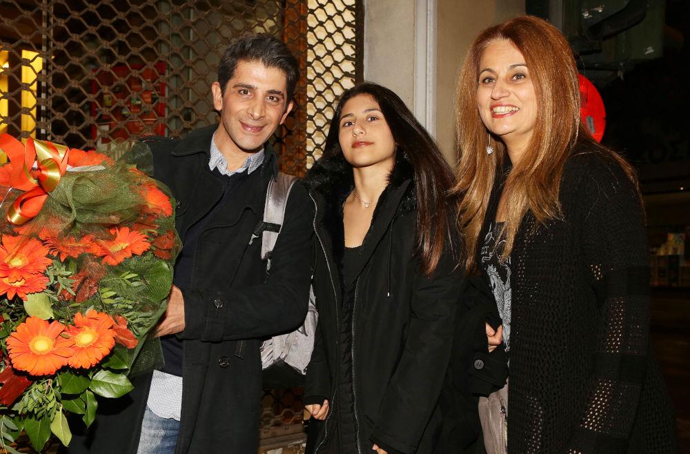 Ο Χρήστος Σπανός, η κόρη του Μαρίνα και η συζυγός του Μελίνα Παιονίδου