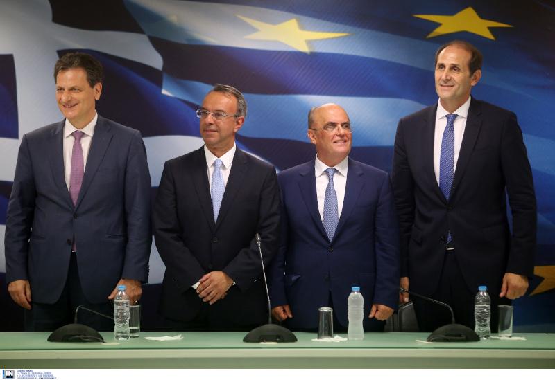 Θόδωρος Σκυλακάκης, Χρήστος Σταϊκούρας, Γεώργιος Ζαββός και Απόστολος Βεσυρόπουλος
