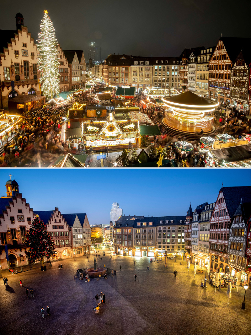 Η πριν και μετά κορωνοϊού χριστουγεννιάτικη αγορά στη Φρανκφούρτη