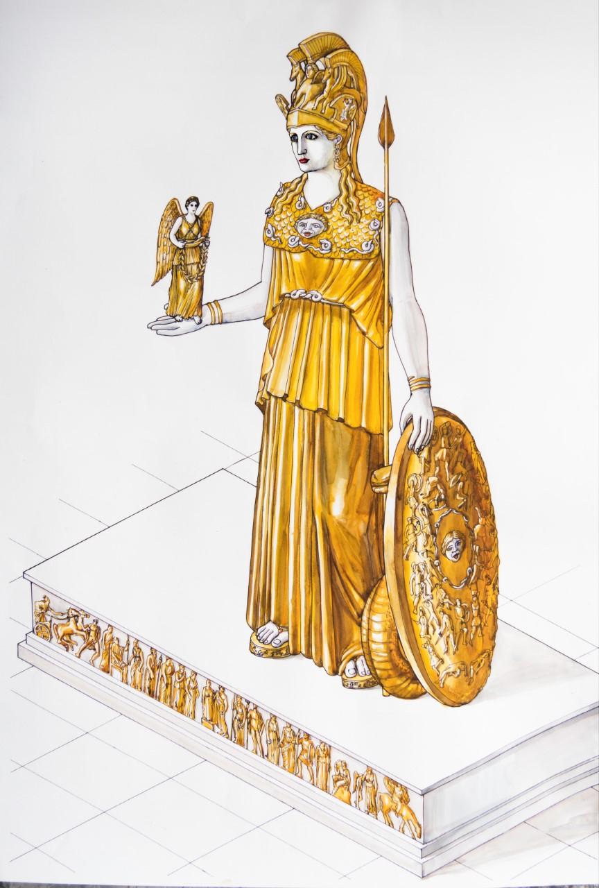 Η Αθηνά του Φειδία φτιαγμένη από χρυσό και ελεφαντόδοντο