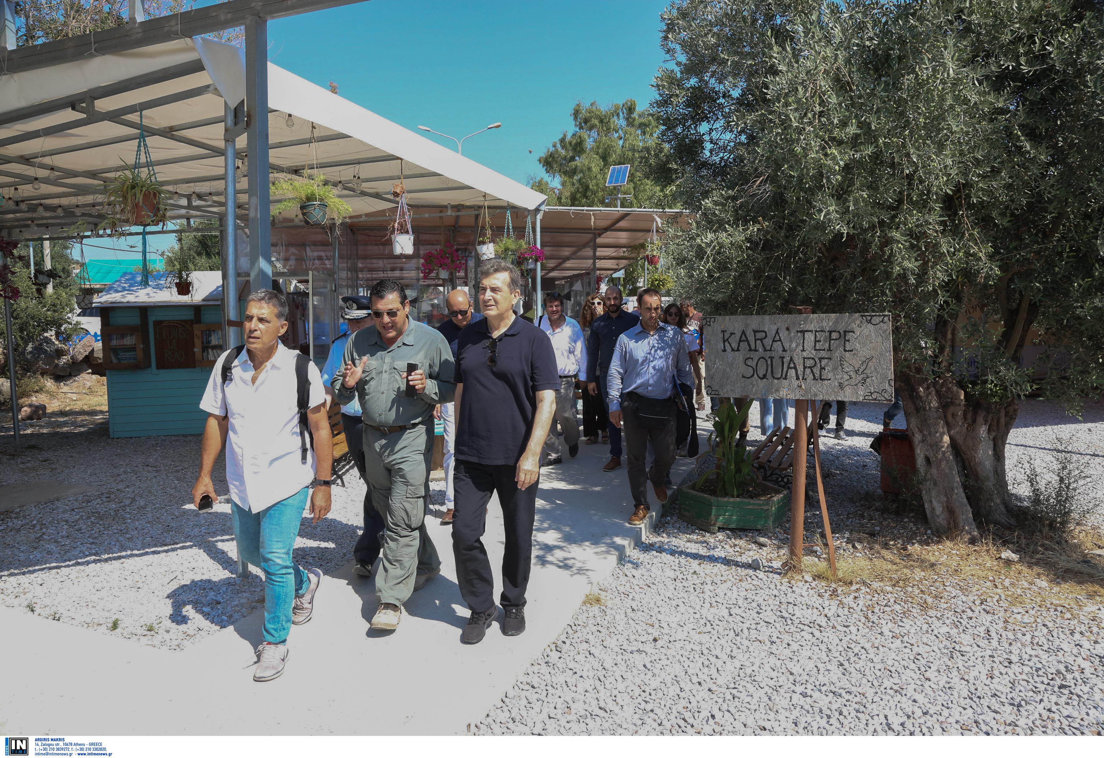 Ο υπουργός επιθεώρησε το Κέντρο Υποδοχής και Ταυτοποίησης της Μόριας, το Ανοιχτό Κέντρο Φιλοξενίας του Δήμου Λέσβου στο Καρά Τεπέ