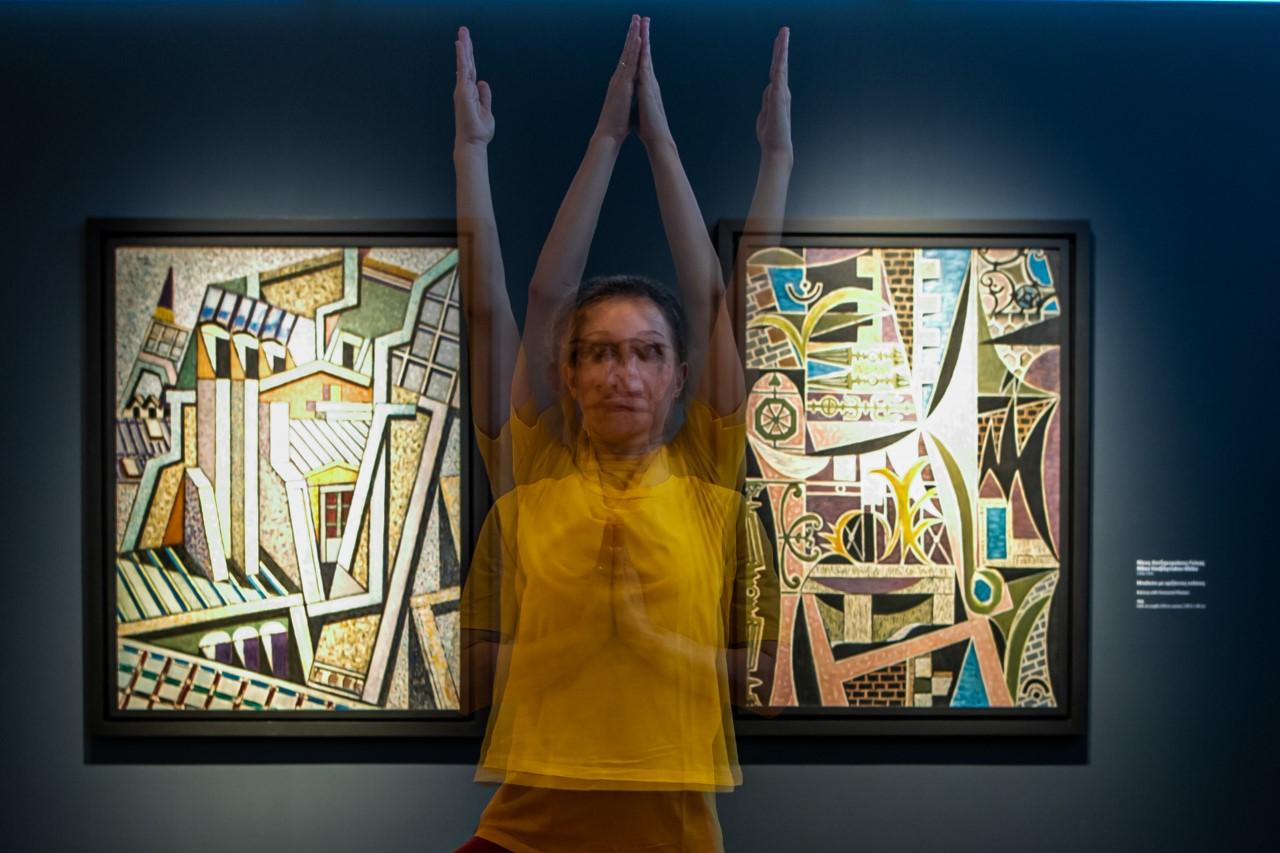 yoga σε μουσείο