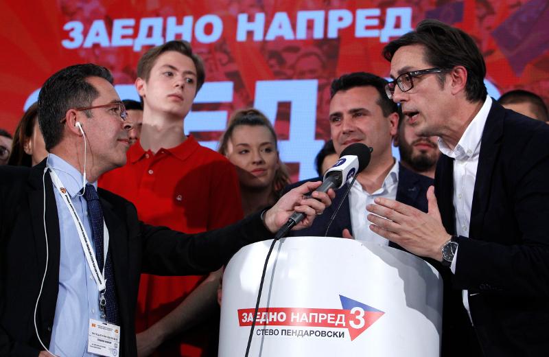 Ζόραν Ζάεφ και Στέβο Πεντάροφσκι