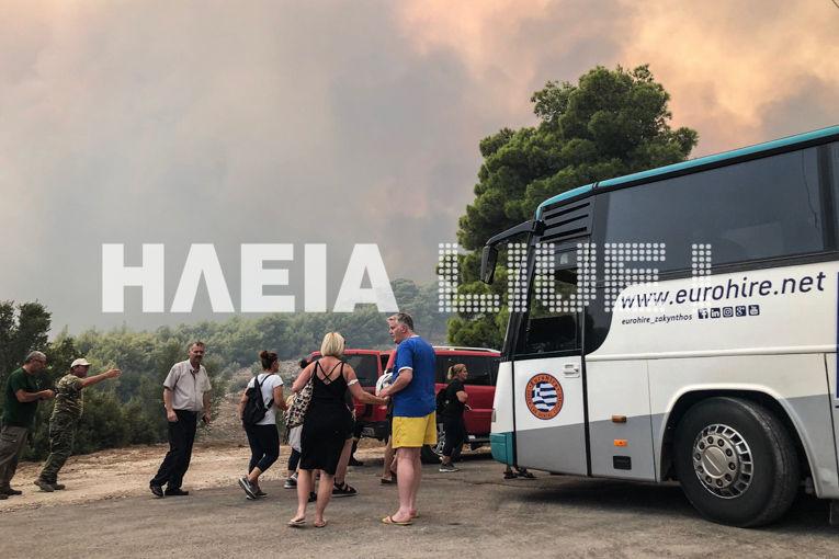 Η στιγμή της εκκένωσης ξενοδοχείου στο Κερί στη Ζάκυνθο