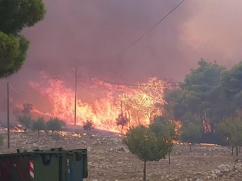 Συνθήκες κόλασης στην πυρκαγιά της Ζακύνθου
